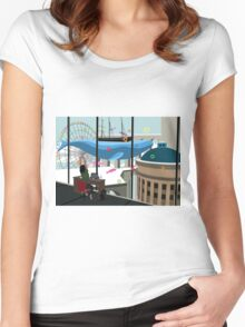 Working Daydreams Women's Fitted Scoop T-Shirt