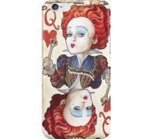 alice in wonderland red queen iPhone Case/Skin