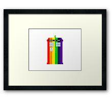 Rainbow Tardis Framed Print