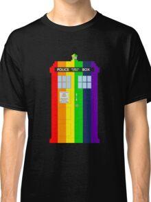 Rainbow Tardis Classic T-Shirt