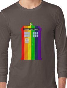 Rainbow Tardis Long Sleeve T-Shirt
