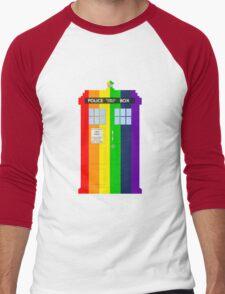 Rainbow Tardis Men's Baseball ¾ T-Shirt