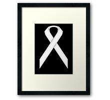 White Standard Ribbon Framed Print