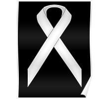 White Standard Ribbon Poster