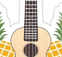 Pineapple flowers ukulele Sticker