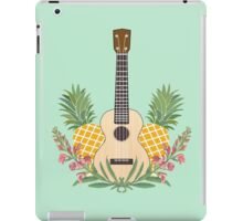 Pineapple flowers ukulele iPad Case/Skin