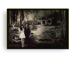 Mr and Mrs Gold Canvas Print