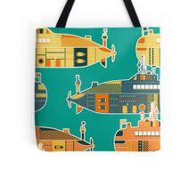 Seamless pattern with submarine Tote Bag