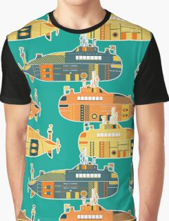 Seamless pattern with submarine Graphic T-Shirt