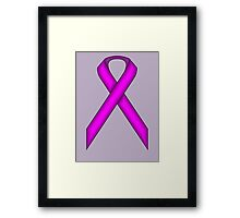 Purple Standard Ribbon Framed Print