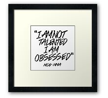 Conor McGregor - Obsessed Framed Print