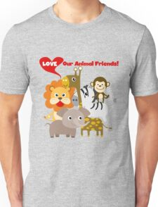 Love Our Animal Friends Zoo Animals Unisex T-Shirt