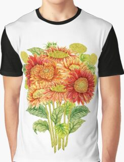 Bouquet with watercolor gerbera flower. Hand drawn illustration Graphic T-Shirt