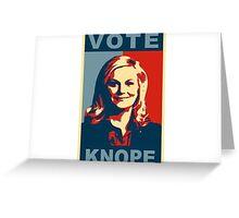 Vote Knope Greeting Card