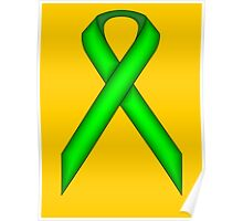 Lime Green Standard Ribbon Poster