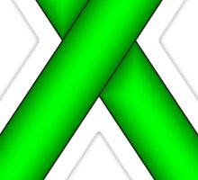 Lime Green Standard Ribbon Sticker