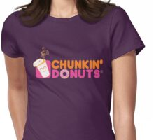 CHUNKIN DONUTS Womens Fitted T-Shirt