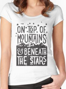 On Top Of Mountains Women's Fitted Scoop T-Shirt