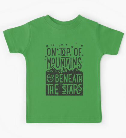 On Top Of Mountains Kids Tee