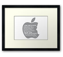 your time is limited (v2) - steve jobs Framed Print