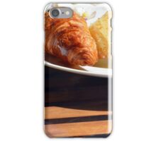 Breakfast with bagel, croissant and pastries. iPhone Case/Skin