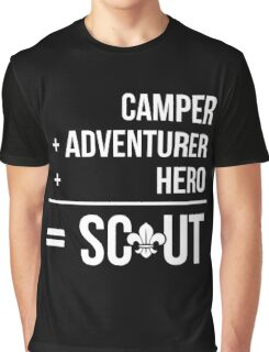 Camper, Adventurer, Hero = Scout Graphic T-Shirt