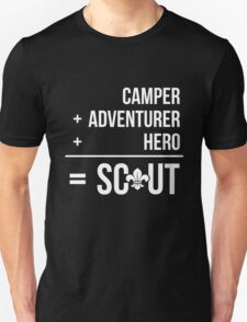 Camper, Adventurer, Hero = Scout T-Shirt