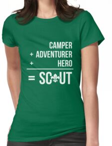 Camper, Adventurer, Hero = Scout Womens Fitted T-Shirt