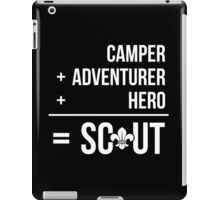 Camper, Adventurer, Hero = Scout iPad Case/Skin