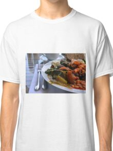 Healthy lunch with beans, vegetables, pasta. Classic T-Shirt