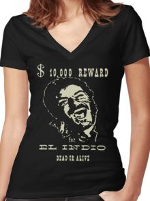 El Indio Women's Fitted V-Neck T-Shirt