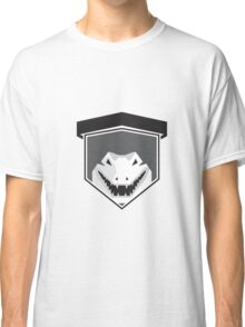 Alligator Head Shield Black and White Classic T-Shirt