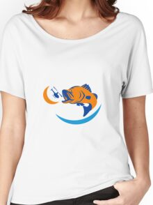 Barramundi Jumping Helicopter Retro Women's Relaxed Fit T-Shirt