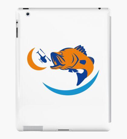 Barramundi Jumping Helicopter Retro iPad Case/Skin