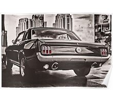 FORD MUSTANG GT 60s Poster