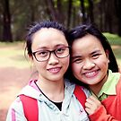 Two Girls Hue Vietnam  by Andrew  Makowiecki