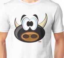 Torito perplejo Unisex T-Shirt