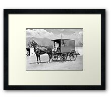 THE HORSE AND THE WAGON Framed Print