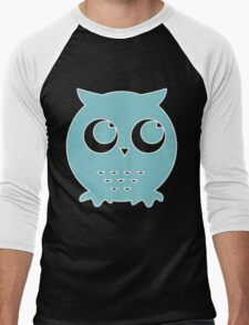 Little Blue Owl Men's Baseball ¾ T-Shirt