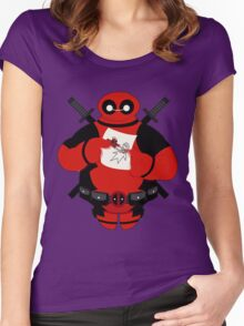 Baymax Pool Women's Fitted Scoop T-Shirt