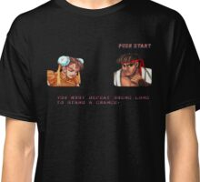 Streetfighter 2 Ryu def Chun Li Classic T-Shirt