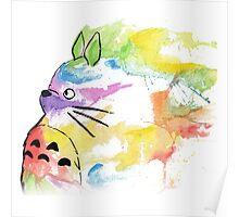 Rainbow  totoro Poster