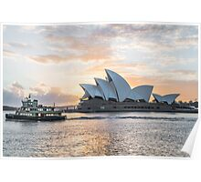 Ferry passing the Sydney Opera House Poster