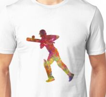 Cricket player batsman silhouette 06 Unisex T-Shirt