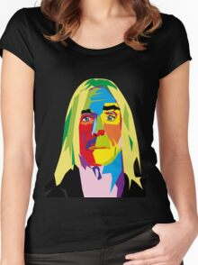 Iggy Pop Women's Fitted Scoop T-Shirt