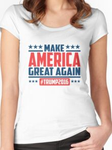 Make America great again Women's Fitted Scoop T-Shirt