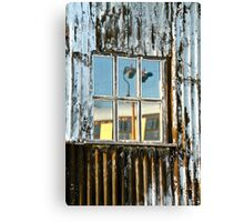 The Window Of The Railway Shed Canvas Print