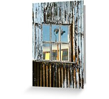 The Window Of The Railway Shed Greeting Card