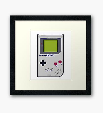 Game Boy Pixel Art Framed Print