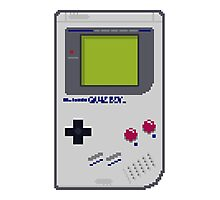 Game Boy Pixel Art Photographic Print
